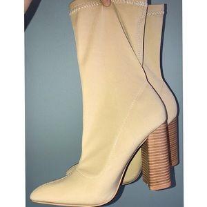 Yeezy style sock boot heels